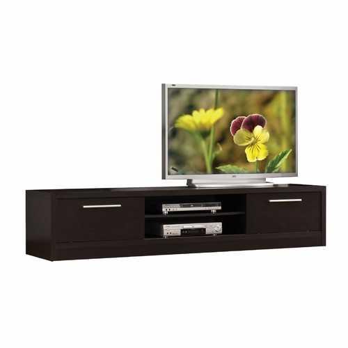 """19"""" X 79"""" X 16"""" Espresso Wood Veneer (Paper) TV Stand"""