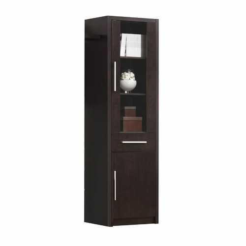 """15"""" X 21"""" X 71"""" Espresso Wood Veneer (Paper) TV Cabinet"""