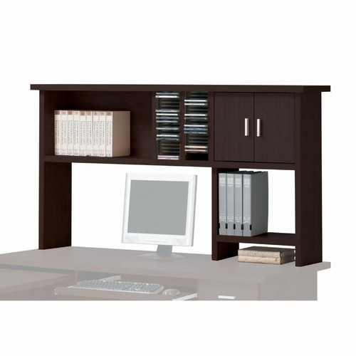 """12"""" X 63"""" X 34"""" Espresso Wood Veneer (Paper) Computer Hutch"""