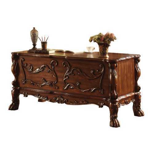 """36"""" X 72"""" X 31"""" Cherry Oak Wood Poly Resin Executive Desk"""
