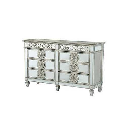 """20"""" X 68"""" X 41"""" Mirrored Wood Dresser"""