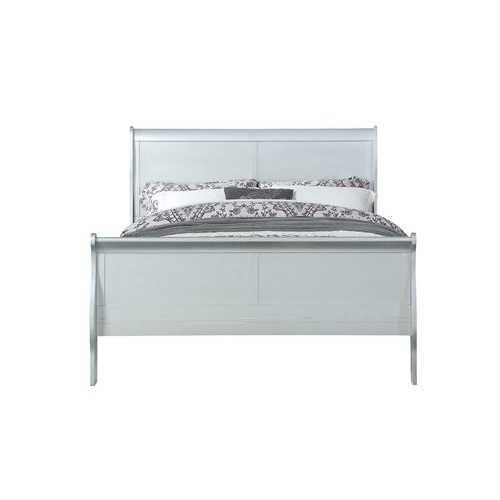 """56"""" X 85"""" X 47"""" Platinum Wood Full Bed"""