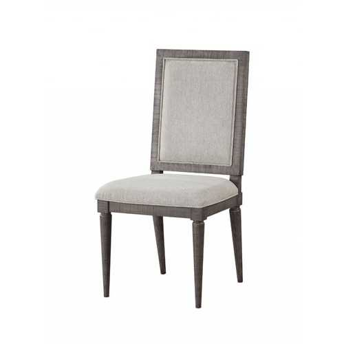 """18"""" X 21"""" X 41"""" Fabric Salvaged Natural Wood Upholstered Seat Side Chair Set2"""