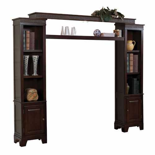 "13"" X 94"" X 79"" Merlot Wood Glass (TV Stand) Entertainment Center"