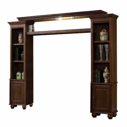 "15"" X 96"" X 78"" Walnut Wood Glass (TV Stand) Entertainment Center"