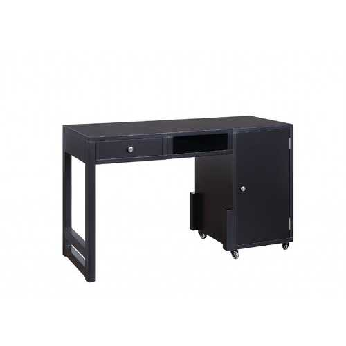"20"" X 48"" X 30"" Black Wood Veneer Desk (Convertible)"