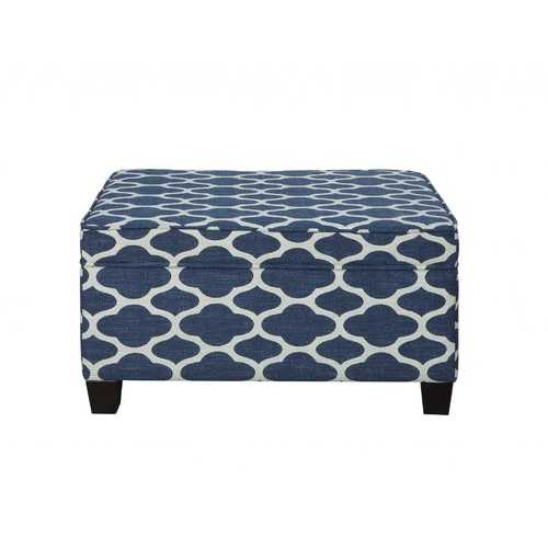"26"" X 36"" X 20"" Fabric Pattern Upholstery Wood Leg Bench w/Storage"