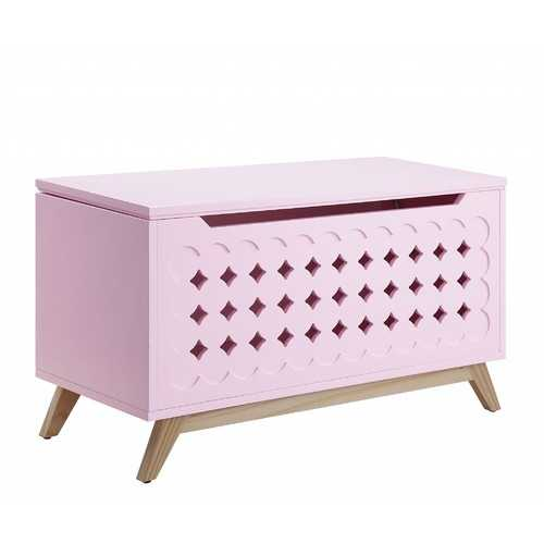 """16"""" X 37"""" X 21"""" Pink Natural Wood Youth Chest"""