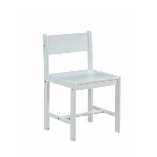 """17"""" X 17"""" X 30"""" White Wood Chair"""