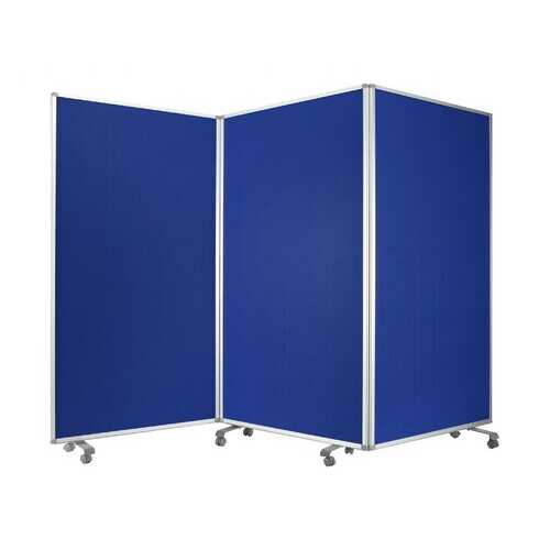 """106"""" x 1"""" x 71"""" Blue, Metal and Fabric - Screen"""