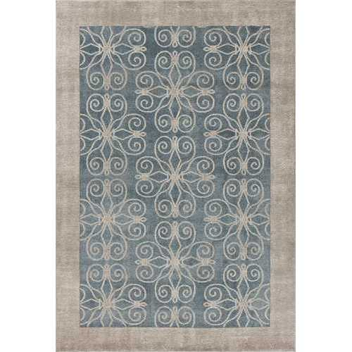 "5'3"" x 7'7"" Polypropelene Teal Area Rug"