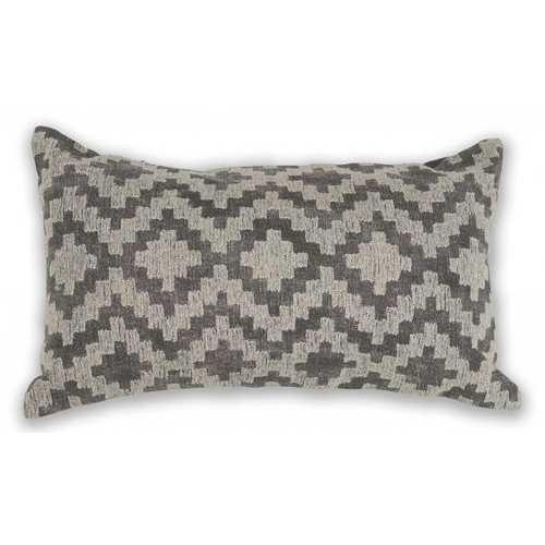 "12"" x 20"" Cotton Grey Pillow"