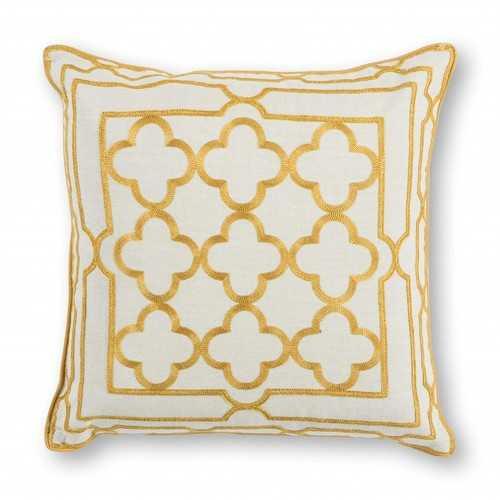 """18"""" x 18"""" Cotton Gold Pillow"""