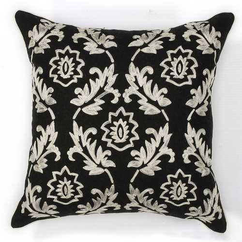 """18"""" x 18"""" Cotton Black/White Pillow"""