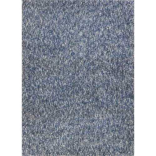 "3'3"" x 5'3"" Polyester Indigo/Ivory Heather Area Rug"