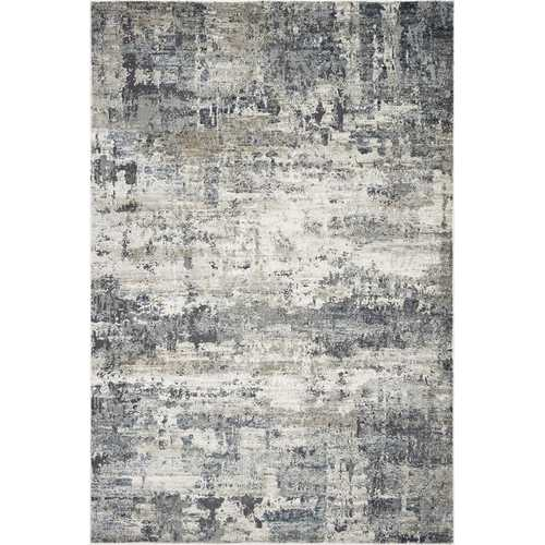 "2'2"" x 7'6"" Runner Polyester Ivory/Teal Area Rug"