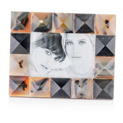 "2"" x 8.5"" x 10.5"" Black,  Green & White Mosaic - 5x7 Photo Frame"