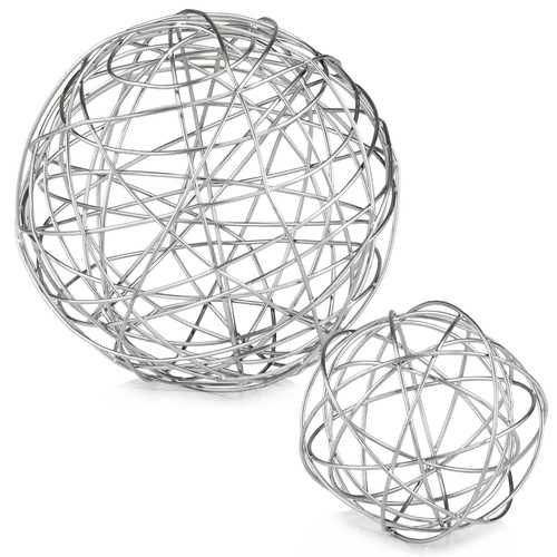 "7"" x 7"" x 7"" Silver/Large Wire - Sphere"
