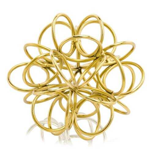 "3.5"" x 4"" x 4"" Gold/Object - Rings"