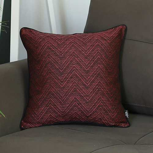 "17""x 17"" Jacquard Zigzag Decorative Throw Pillow Cover"