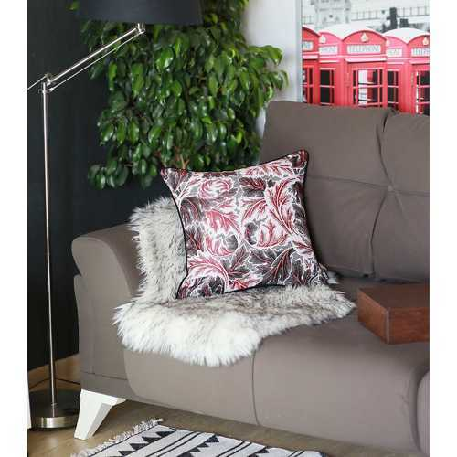 """17""""x 17"""" Colored Jacquard Maple Leaf Decorative Throw Pillow Cover"""