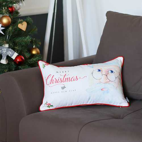 """12""""x20"""" Christmas Printed Decorative Throw Pillow Cover"""