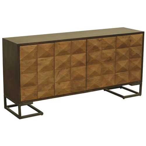 "27"" x 36.5"" x 33.5"" Acasia Warm Cherry Contemporary Sideboard"
