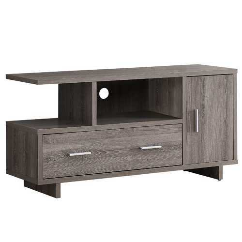 "15.5""x 47.25""x 23.75"" Tv Stand Dark Taupe With Storage"