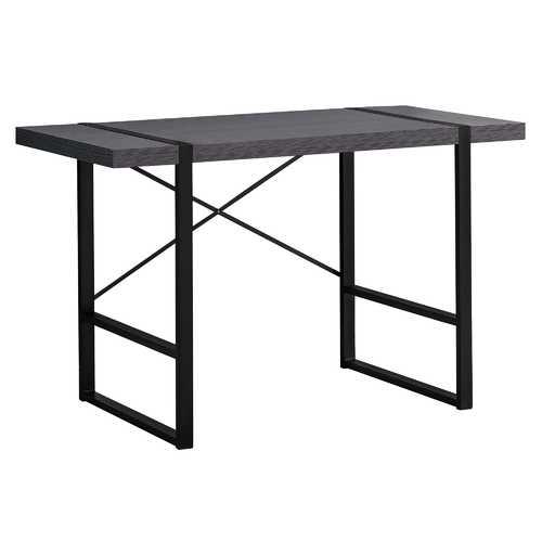 "23.75""x 49""x 30"" Computer Desk Grey Or Black Metal"