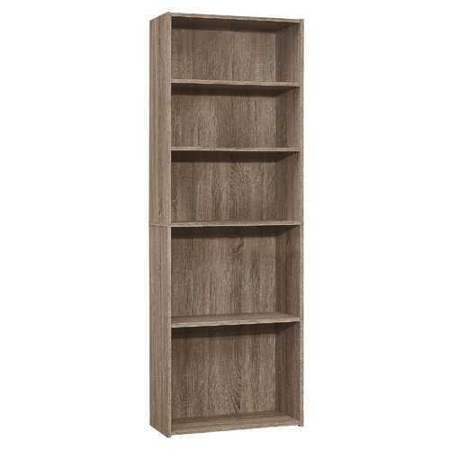 "11.75"" x 24.75"" x 71.25"" Dark Taupe, 5 Shelves - Bookcase"
