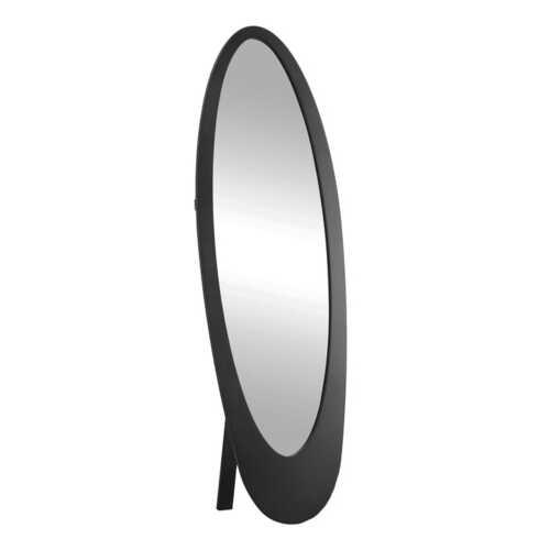 "18.5"" x 18.75"" x 59"" Black Oval Frame  Mirror"