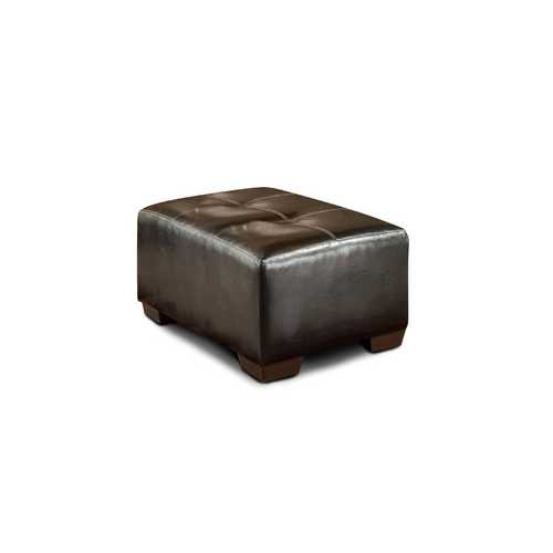 "36"" X 25"" X 18"" Jefferson Chocolate 100% Polyester Ottoman"