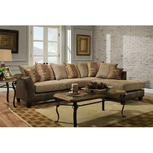 """111"""" X 75"""" X 37"""" Rip Suede 100% Polyurethane/100% Polyester Velvet Sectional"""