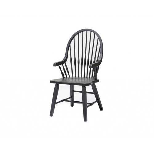 "21.5"" X 21.5"" X 41"" Black Hardwood Teakwood Arm Chair"