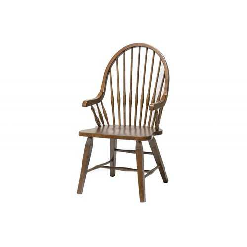 "21.5"" X 21.5"" X 41"" Tobacco Hardwood Teakwood Arm Chair"