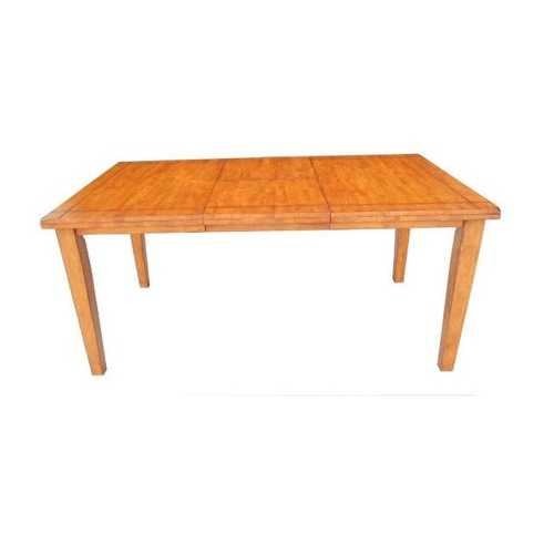"36"" X 66"" X 30"" Wood Tone Hardwood Dining Table"