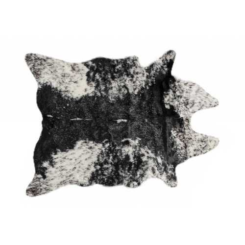 "0.8"" x 60"" x 51"" Acrylic Plush, Polyester S&P Black White Rug"