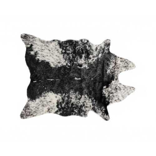 "0.8"" x 90"" x 63"" Acrylic Plush, Polyester S&P Black White Rug"