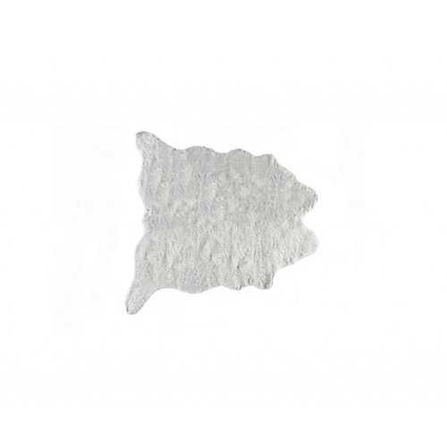 "0.8"" x 60"" x 51"" Acrylic Plush, Polyester Grey Rug"