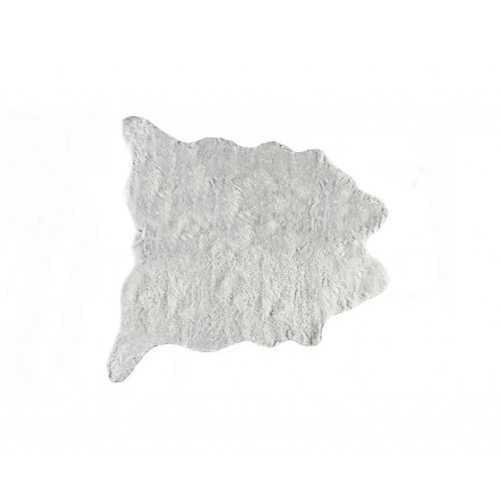 "0.8"" x 90"" x 63"" Acrylic Plush, Polyester Grey Rug"