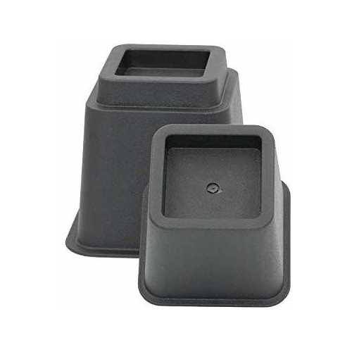 "3"" 5"" or 8"" BlackAdjustable Bed Furniture LegsHeavy Duty Plastic - Bed Risers Set of 4"