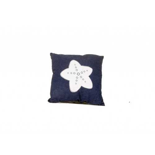 "16.5"" x 16.5"" x 5"" Blue/White - Pillow with Star"