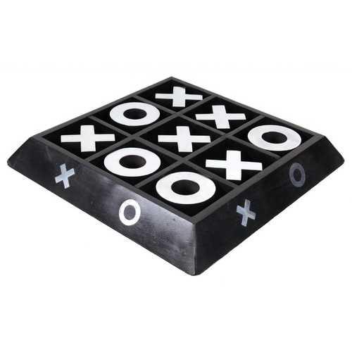 "11.25"" x 11.25"" x 2.5"" Wooden/ Aluminium X-O Game"