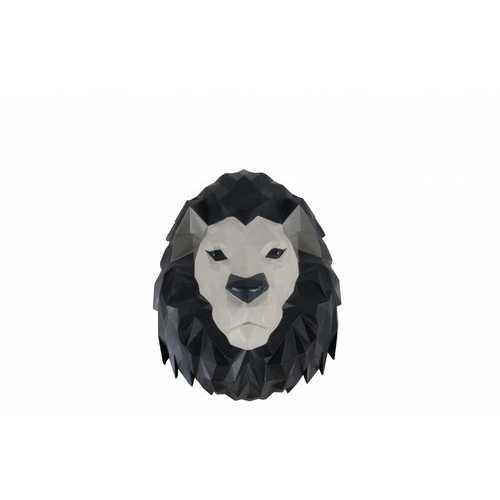 "11.5"" x 9.5"" x 14"" Origami Lion Head Wall Decoration"