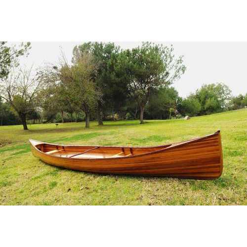 "31.5"" x 187.5"" x 24"" Wooden Canoe"