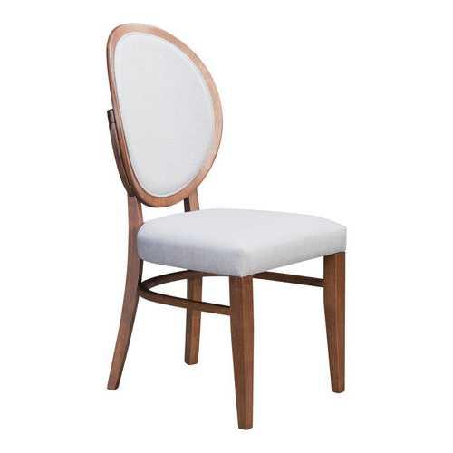 "16.9"" x 21.9"" x 36.8"" Walnut & Light Gray, Rubberwood, Dining Chair - Set of 2"