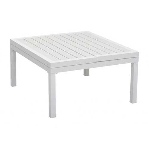 """33.5"""" x 30.7"""" x 17.1"""" White, Polyresin, Powder Coated Aluminum, Lift-Top Coffee Table"""