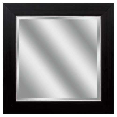 """14"""" X 14"""" Woodtoned Frame Beveled Mirror"""