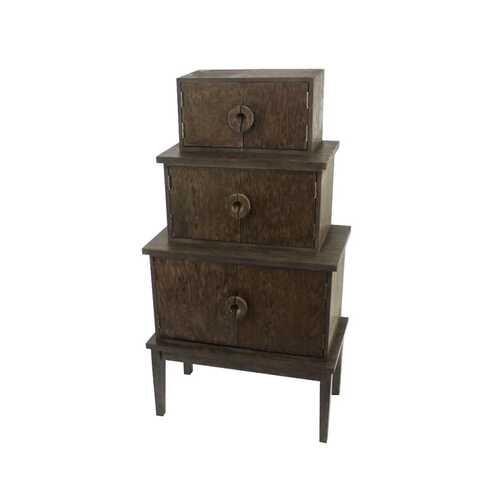 """14"""" x 34"""" x 60"""" Brown, Wood, Cabinet"""