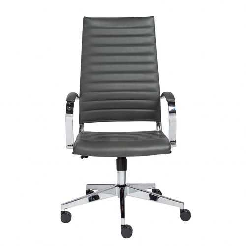 "22.25"" X 27.01"" X 45.28"" High Back Office Chair in Gray"